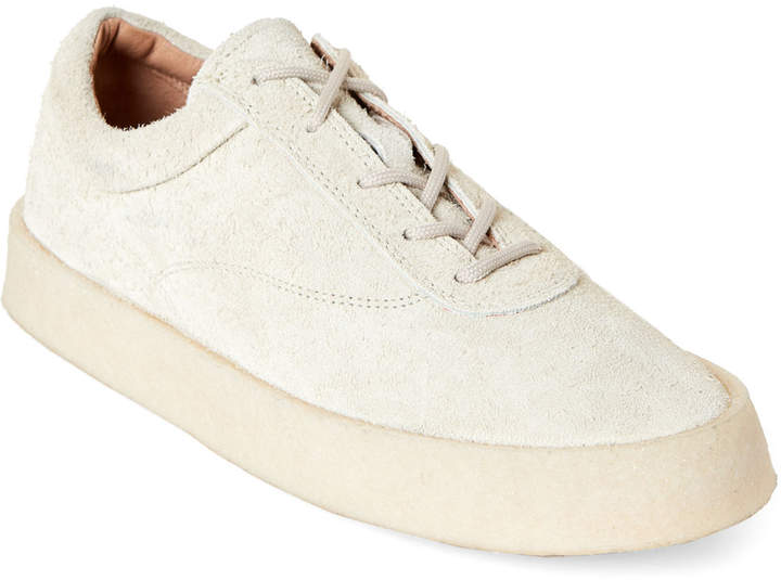 Yeezy Thick Shaggy Suede Low-Top Sneakers