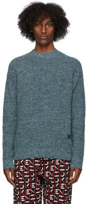 Kenzo Blue Mouline K Logo Sweater