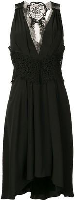 Victoria Beckham V-Neck Fit-And-Flare Dress
