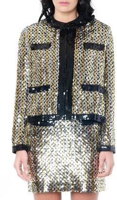 MSGM Gold Sequins Jacket