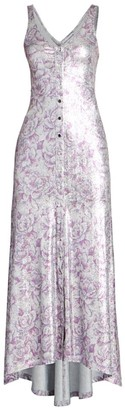 Paco Rabanne Metallic Print Midi Dress