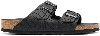 Birkenstock Nevada croc-effect sandals