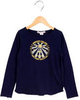 Bonpoint Girls' Graphic Print Long Sleeve Top