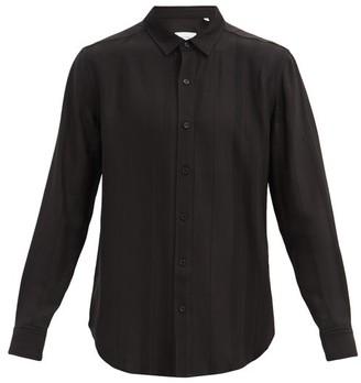 Equipment Striped Jacquard Shirt - Black