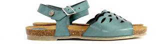 Jonny's Ladies' sandal blue/mint - eco friendly - 38 - Leather /Green