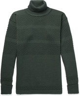 S.N.S. Herning Fisherman Panelled Virgin Wool Rollneck Sweater