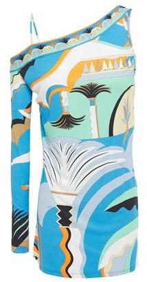 Emilio Pucci Cold-shoulder Printed Jersey Top