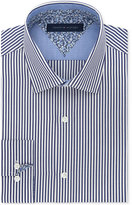 Tommy Hilfiger Men's Slim-Fit Denim Blue Stripe Liberty-Print Dress Shirt
