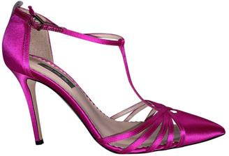 Sarah Jessica Parker Pink Polyester Heels