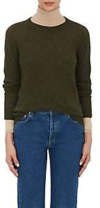 Barneys New York Women's Cashmere Loose-Knit Sweater - Army