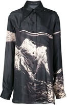 Kwaidan Editions Moon print oversized shirt