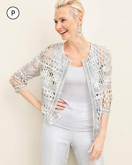 79a7245965 Travelers Collection Petite Foiled Strip Jacket