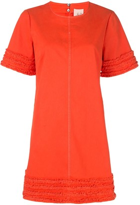 Cinq à Sept Ashton frayed-trim dress