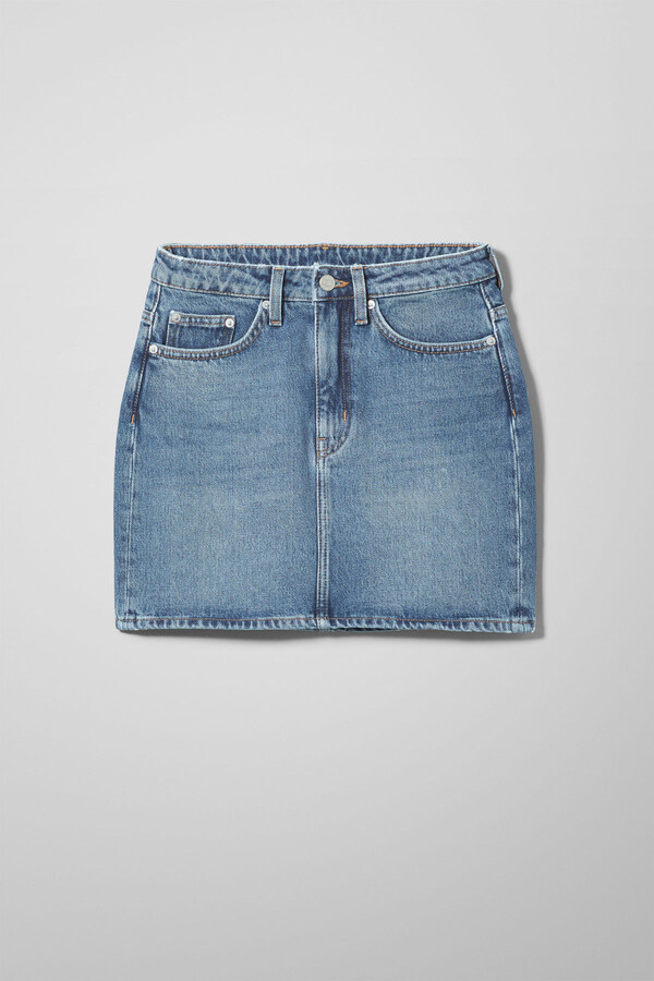 Thumbnail for your product : Weekday Wend Marfa Blue Skirt - Blue