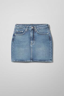 Weekday Wend Marfa Blue Skirt - Blue