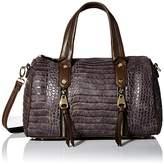 MG Collection Crocodile Bowler Shoulder Bag