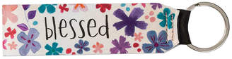 Brownlow Women's Key Chains WHITE/ - White Floral 'Blessed' Wristlet Key Chain