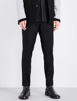Ann Demeulemeester Drawstring-tie tapered regular-fit wool trousers