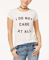 Hybrid Juniors' Do Not Care Graphic T-Shirt
