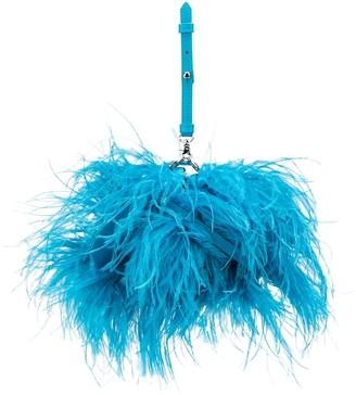Marques Almeida Feathered Clutch Bag