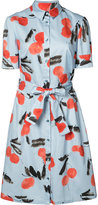 Carolina Herrera cherry print shirt dress - women - Cotton/Spandex/Elastane - 2