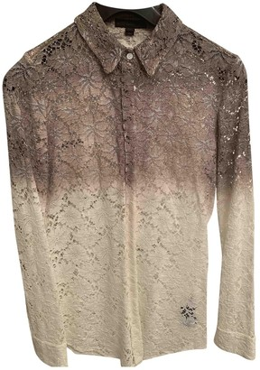 Burberry Khaki Lace Top for Women