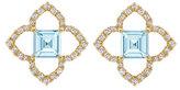 Kiki McDonough Aurora Blue Topaz and Diamond Earrings