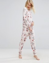 Asos LOUNGE Inky Floral Jogger