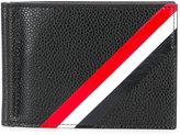 Thom Browne stripe card holder - men - Calf Leather - One Size