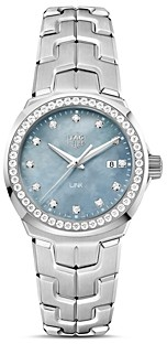 Tag Heuer Diamond Bezel Link Watch, 32mm