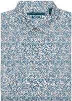 Perry Ellis Long Sleeve Etching Print Shirt