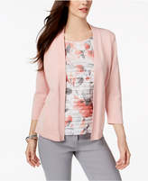 Alfred Dunner Lakeshore Drive Tiered Layered-Look Cardigan
