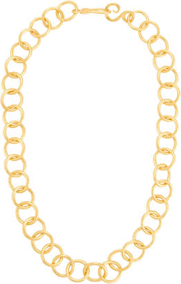 Stephanie Kantis Circle-Link 24k Gold-Plated Necklace