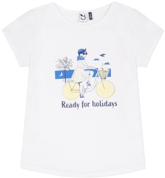 3 Pommes Cotton Mix T-Shirt, 3-14 Years