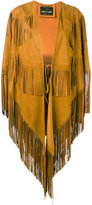 Roberto Cavalli fringed cape coat