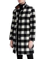 Jane Post 3-in-1 Buffalo Plaid Raincoat