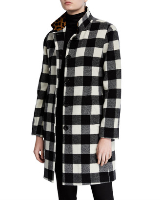 Jane Post 3-in-1 Buffalo Plaid Raincoat