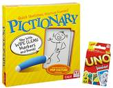 Mattel Pictionary Game & Uno Junior Cards