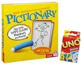 Mattel Pictionary Game & Uno Junior Cards
