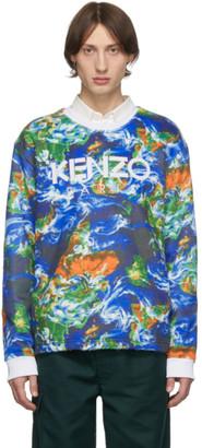 Kenzo Blue World Sweatshirt