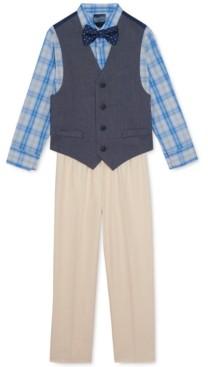 Nautica Little Boys 4-Pc. Oxford Vest Set