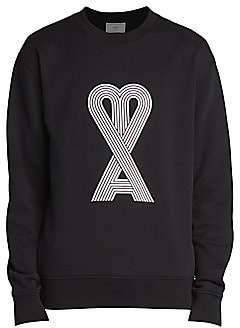 Ami Paris Men's Heart Graphic Logo Sweatshirt