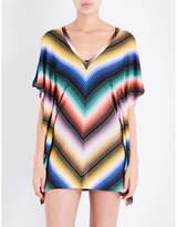 Missoni Zigzag crochet-knit kaftan