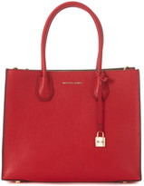 MICHAEL Michael Kors Mercer red leather tote bag Red