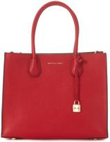 MICHAEL Michael Kors Michael Kors Mercer red leather tote bag Red