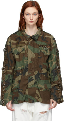 R 13 Khaki Refurbished Camo Ring Field Jacket