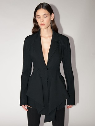 Thierry Mugler FLARED COOL WOOL JACKET DRESS