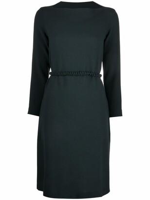 Antonelli Boat-Neck Belted Dress