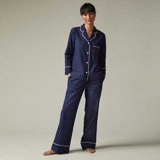 Love & Lore Love And Lore Polka Dot Poplin Pajama Set Indigo Small