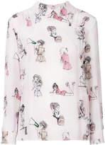 Miu Miu Lady print shirt